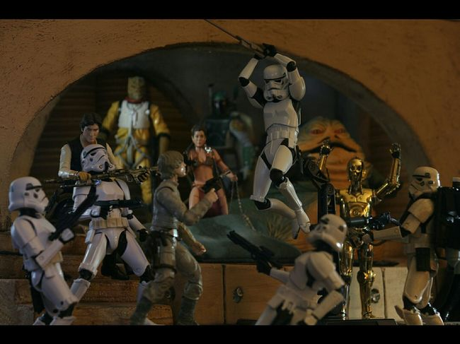 Plastictherapy Hobbyphotography Toycommunity Stormtroopers Darkside Blackseries GalacticEmpire Rotj Diorama Starwars Stormtrooper Starwarstheblackseries Dio Buildingdioramas Iliketobuildshit Bossk Jabbaspalace Sandtrooper Jabbathehutt Droid