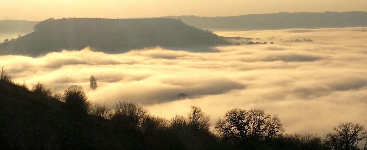 I'm lucky my job allows me to drive around beautiful gloucestershire in the UK This Is Where I Live... Coaley Peak Viewpoint Gloucestershire Uk Above The Fog Foggy Day Gloucestershire UK Dursley Gloucestershire