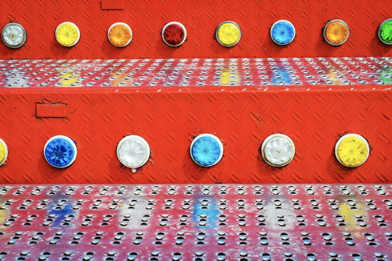 Close up of illuminated red funfair stairs (carousel) Funfair Funfair🎡 Red Stairs Textured  Action Activity Amusement Park Childhood Close Up Close-up Colour Of Life Day Fair Fairground Festival Funfair Stairs Indoors  Multi Colored No People Pattern Red Stairs_collection Carousel Neon Life