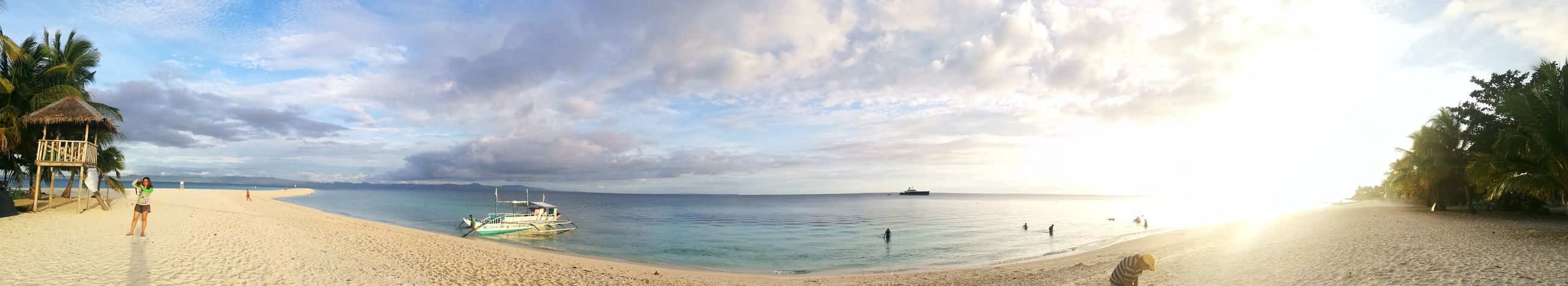 Sea Beach Water Panoramic Horizon Over Water Outdoors Vacations Travel Destinations Sky No People Scenics Day Beauty In Nature Nautical Vessel Nature HuaweiP9 HuaweiP9Photography HuaweiP9leica Huawei P9 Photos Huawei Shots Huaweiphotography Kalanggaman Island Philippinesbeaches Kalanggamanisland Philippines