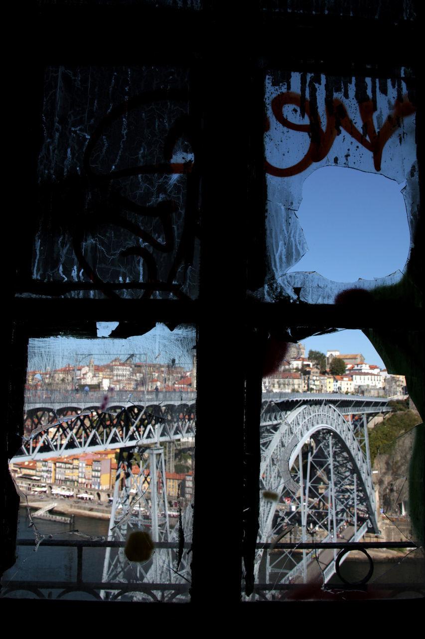 Dom Luis I Bridge Seen Through Old Window