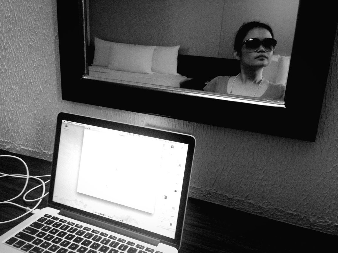 The Travelling Worker Working Work Selfie ✌ Self Portrait Black And White Black & White Monochrome Self Portrait Around The World