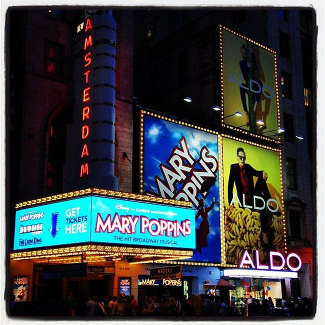 Mary Poppins on #Broadway. #nyc #timessquare Newyork Broadway NYC Instamood Night Newyorkcity Lights TimesSquare IPhoneography Shows Play Instagood Theater Instagramhub NY Webstagram Disney Newyorkstate Neon Nyc_landmark Iphoneonly Timessq Acting Playbill Photooftheday Picoftheday Manhattan