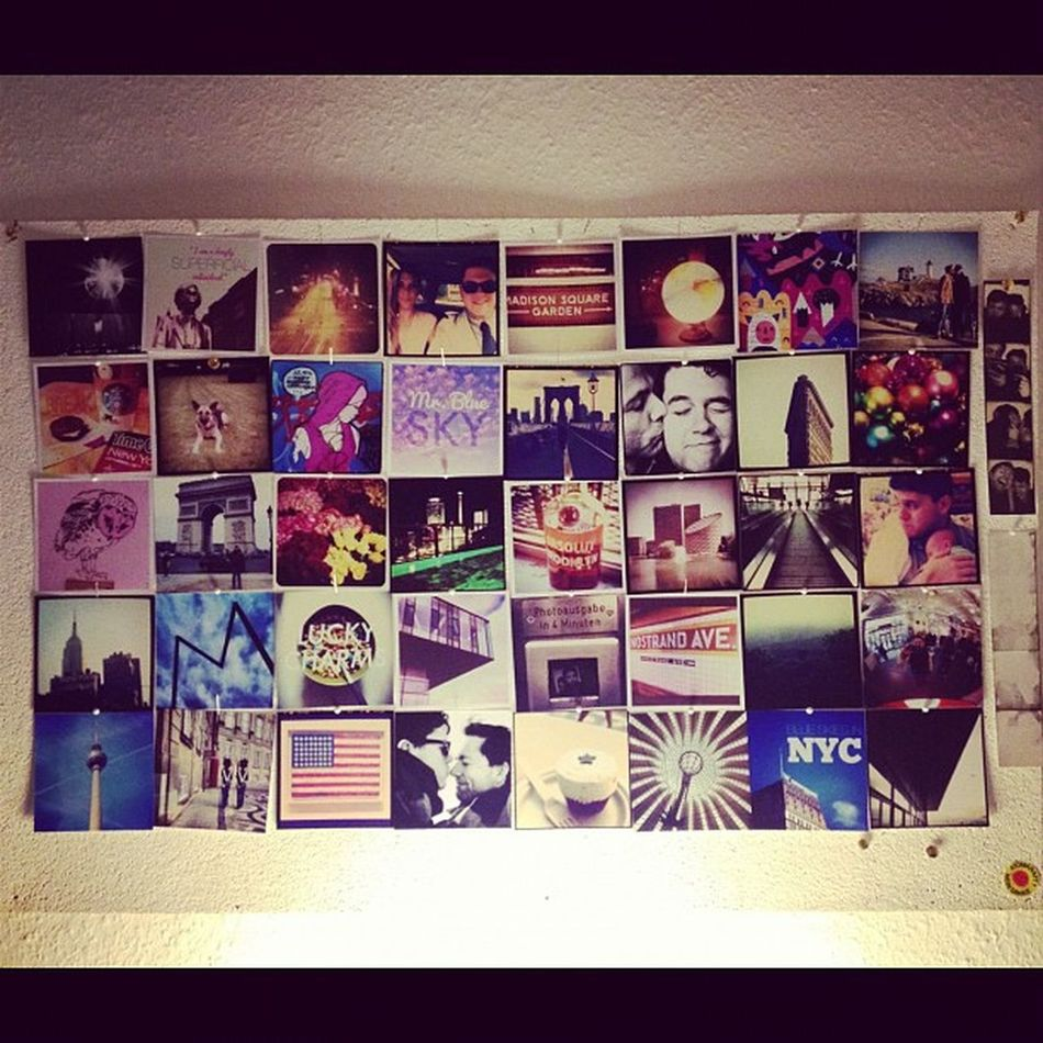 My favorite instagrams up on my wall! Instaprint Postalpix Printouts Love Swag Wall Favorite Instagram Picoftheday Best  Ig