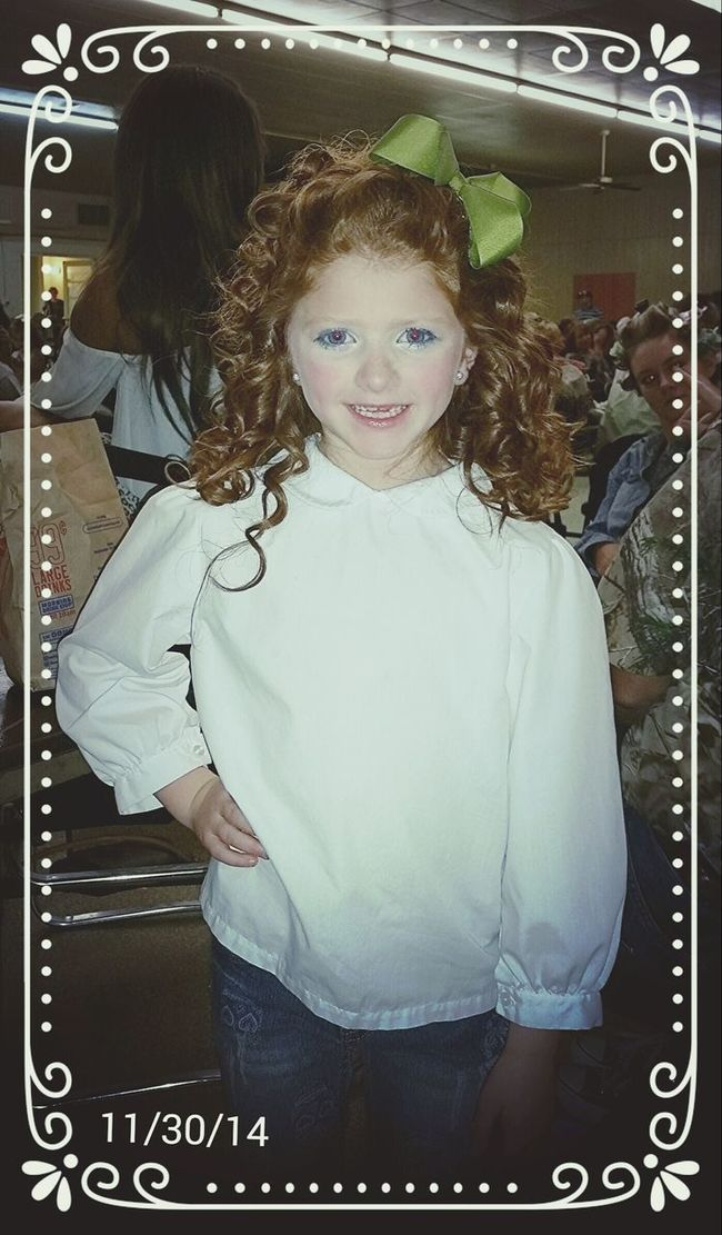 Jennings xmas pageant 11/30/14. The most beautiful redhead ive ever met! LOVE LOVE LOVE my minime!