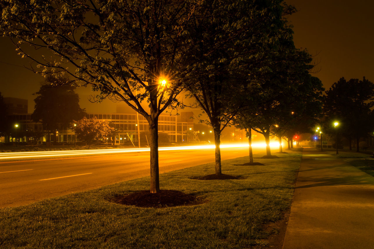 Beautiful stock photos of path, Empty, Illuminated, Light Trail, Long