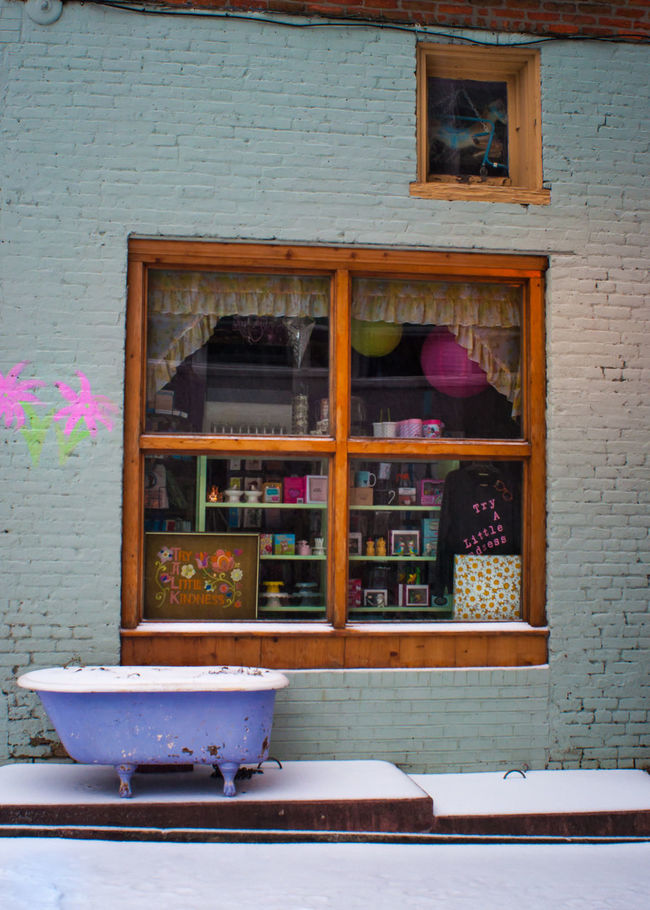 Bathtub Bathtub Shenanigans Blizzard Building City Day Durham Façade Jonas Multi Colored North Carolina Outdoors Snow Snow Covered Snowy Ground Southeast Store Window Winter