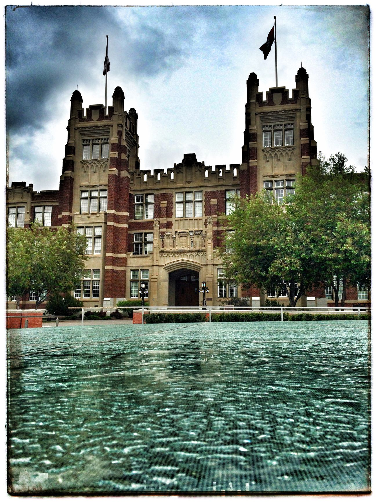 Rainy night on campus 2. Architecture Rain Project 365 Photography Photo Of The Day Iphone 5