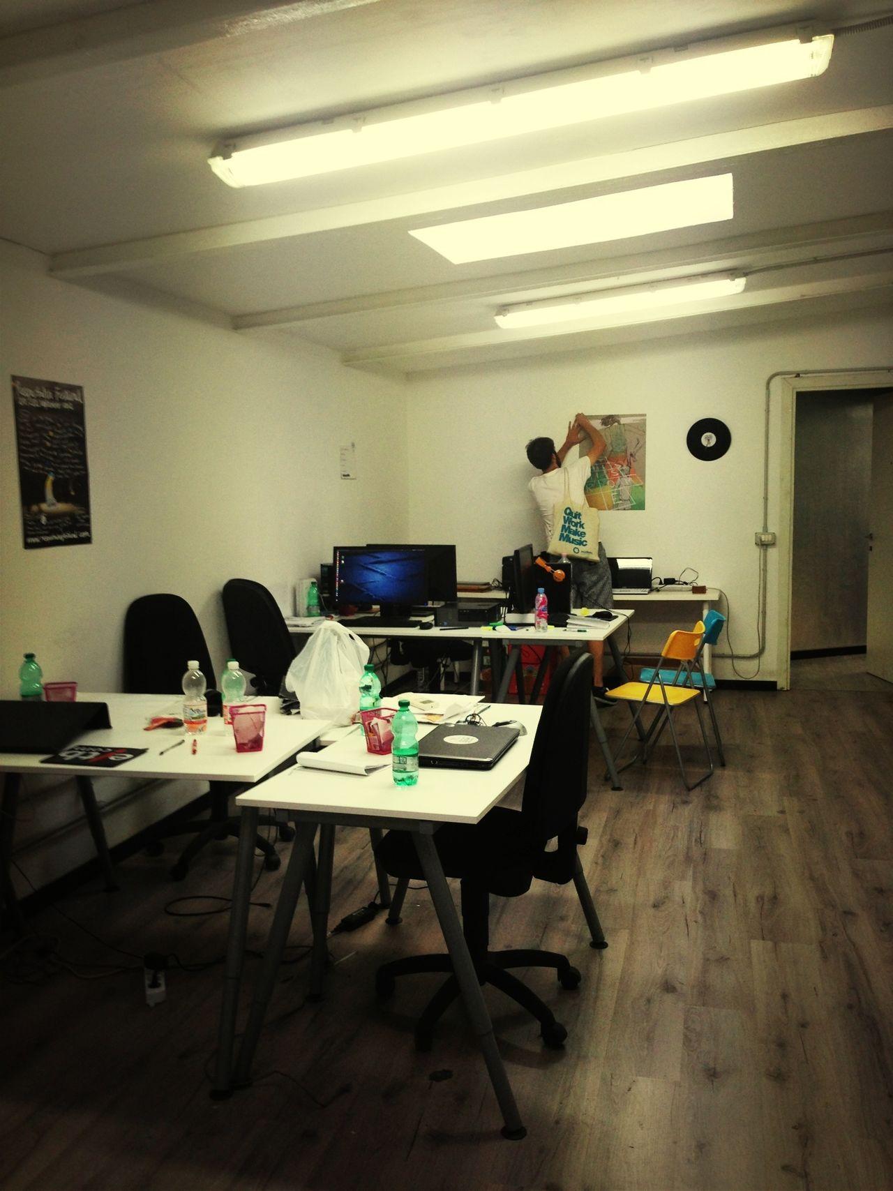 Last day on San Lorenzo office Melancholy Last Goodbye