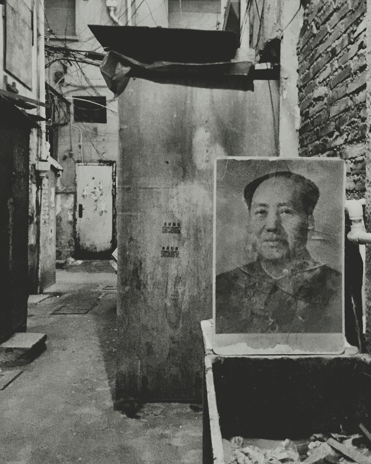 Demolition Stories Demolition Zone Urban Geometry Beauty Of Decay Hutong Destruction Black And White Photography Black And White Blackandwhite Urban Decay Shanghai Mao Tse Tung