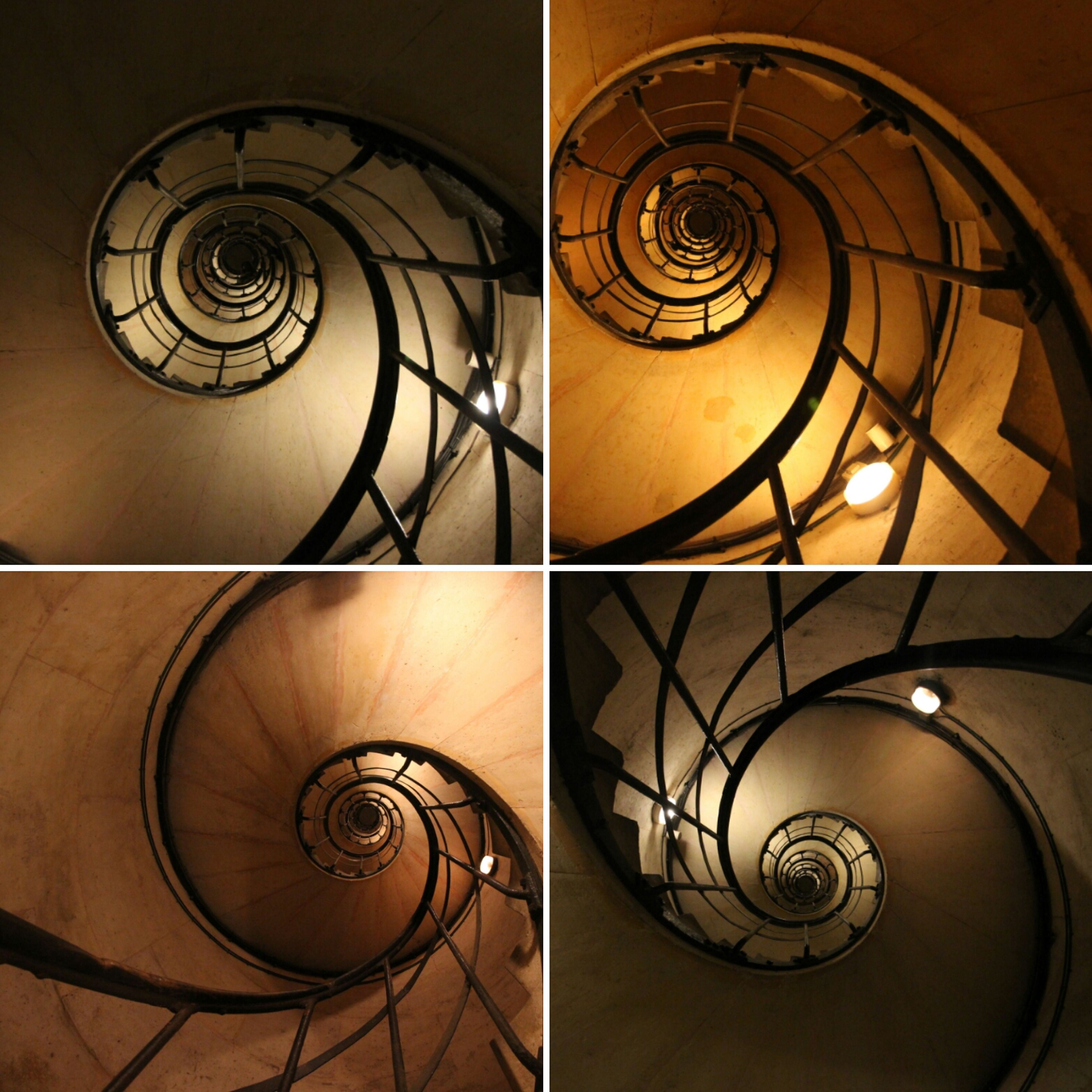 design, architecture, spiral, built structure, pattern, staircase, no people, steps and staircases, indoors, illuminated, spiral staircase, close-up