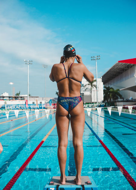 Blue Casual Clothing Competition Confidence  Consentration Day Girl Leisure Activity Lifestyles Love Outdoors Passion Portrait Portrait Of A Woman Power Sky Sports Sports Photography Sunlight Sunny Swimming Swimming Pool Trust Youth Youth Of Today