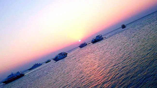 red sea hurghada . sun rise after finishing trip . always great time , wish you could be with me ..