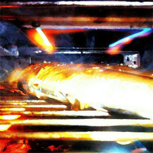 Delicious! Baked saury…With a grated radish. docosahexaenoic acid + eicosapentaenoic acid. Fish Saury Baked Smoked Saury Delicious