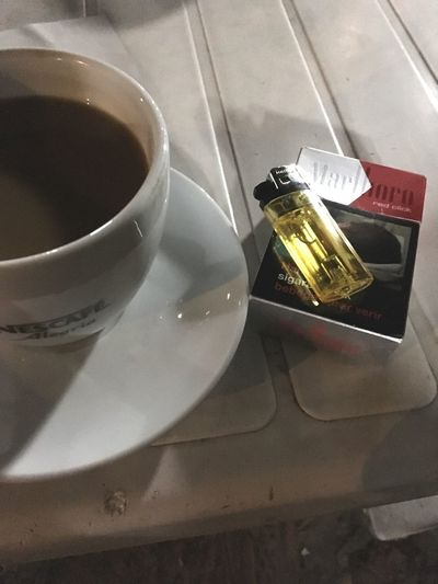 Cigarette  And Coffee Coffee Time Drink
