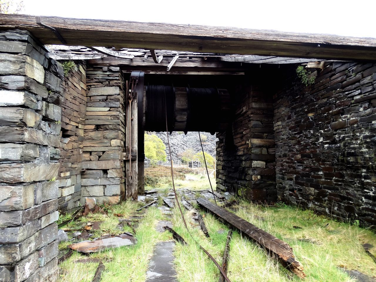 Abandoned mine works. Built Structure Architecture Open No People Day Building Exterior Outdoors Old Abandoned Abandoned Places Abandoned Buildings Building Old Buildings Broken Wall Nature Mining Mining Industry Old Mine Historic