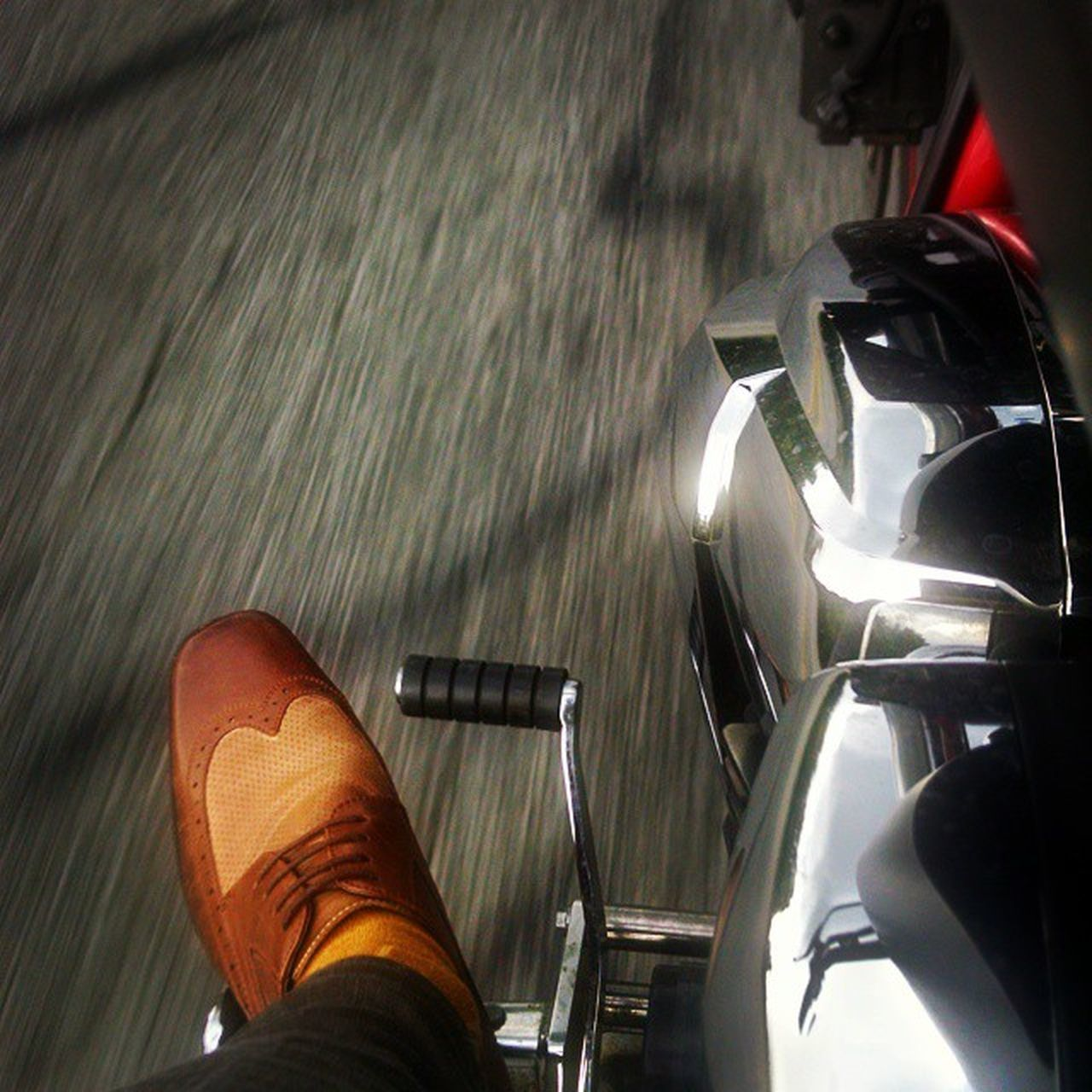 Always on the move. Twowheelsmovethesoul Hondafury Dapper Wingtips