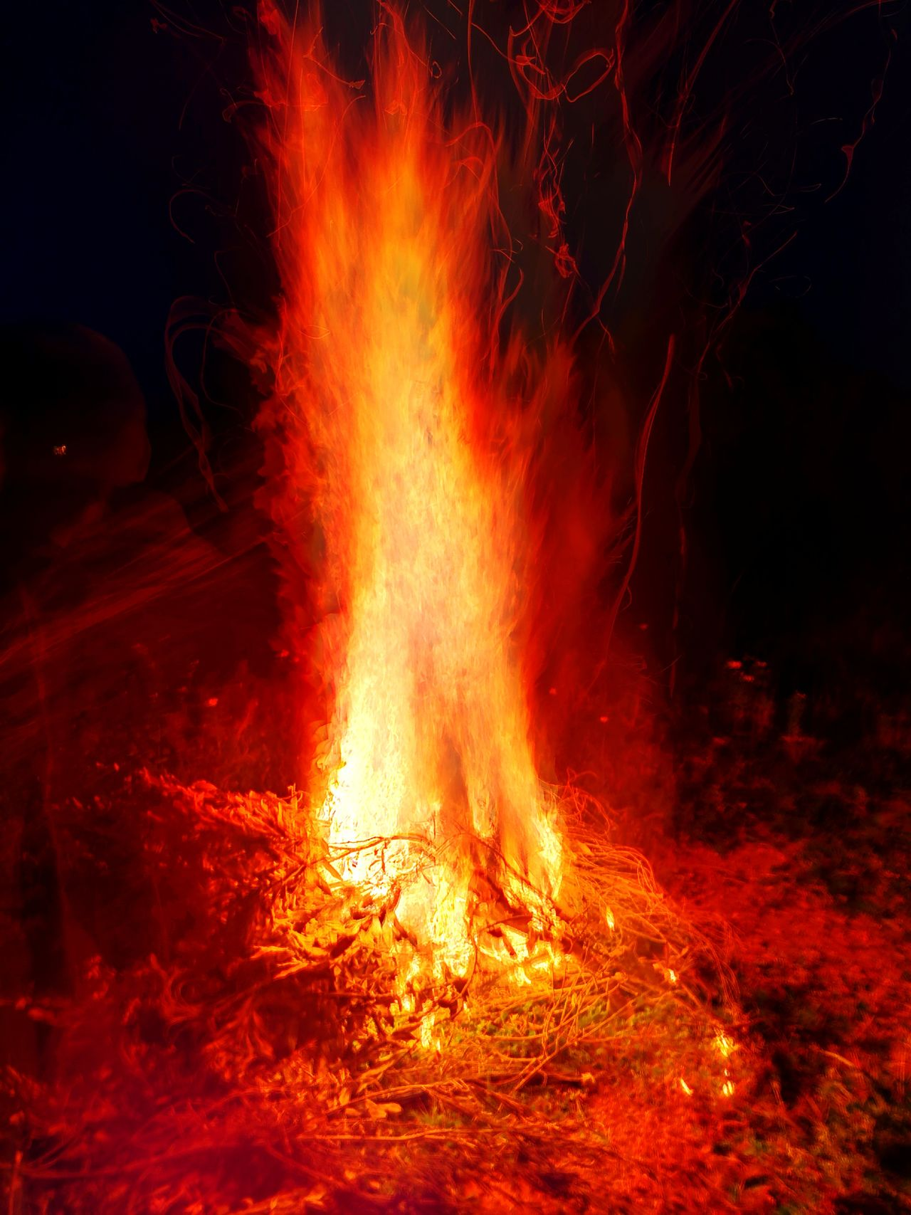 No People Night Lava Red Outdoors Colors Nature Set On Fire Illuminated Tradition Amazing One Man Only High Temperatures