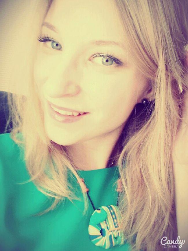 Faces Of EyeEm Selfi : ) Girl Happyday Blonde Russian Girl Hello World Smile Girl Hi Smile ✌