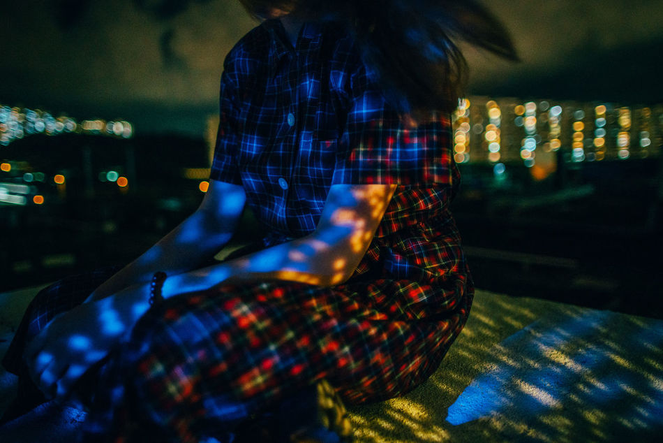 City City Life City Lights Creative Light And Shadow Night One Person People Portrait Real People