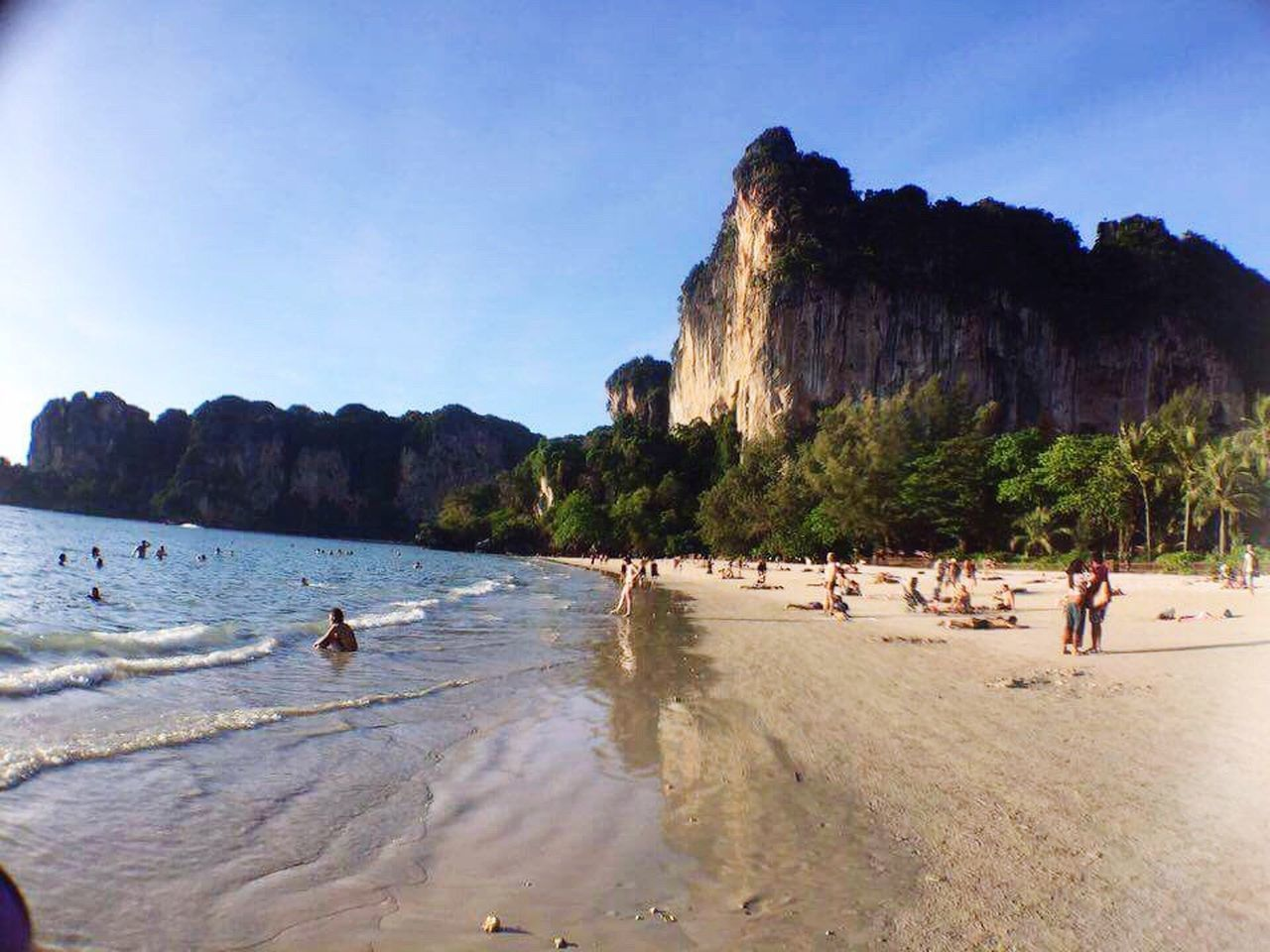 Nature Water Beach Rock Formation Mountain Krabi Thailand Thailand Krabi Railay Railay Beach Amazingblue Amazing Place Amazing View Amazing Nature Vacations Sea