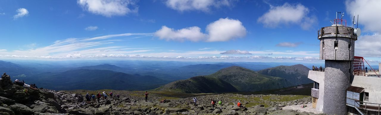Mt. Washington New Hampshire Mountain Range Mountains And Sky Mountainscape Panoramic Landscape