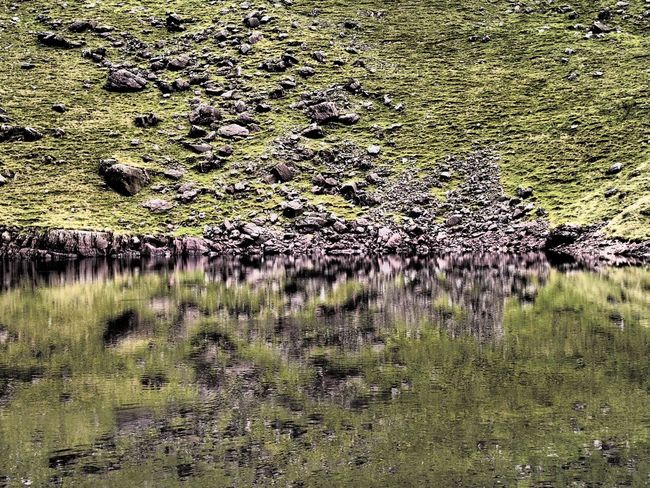 Reflections, Lough Diheen, Galty Mountains Co. Tipperary Galty Mountains Ireland Lake Lough Lough Diheen Mountain Lake Nature Outdoors Reflection Reflections Rock Tranquility Water Fine Art Photography