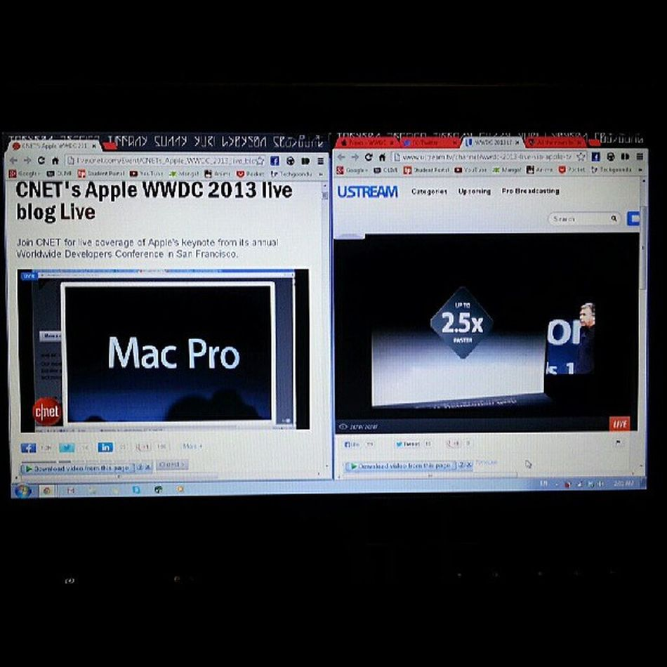 Watching the Apple Live Stream and the CNET commentary side by side with volume. Damn I'm good at multitasking. WWDC @waytodusk