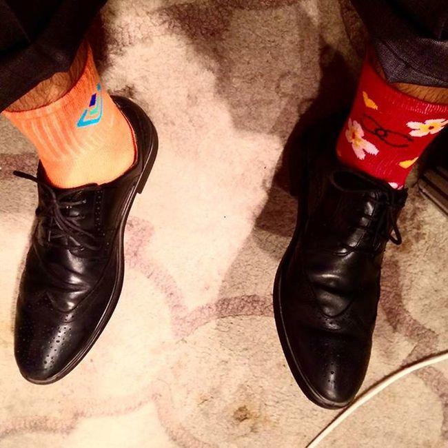 WDSC2015 Differentbutsame Oddsockdaypreview Rockingfloralsocks LikeABOSS @worlddscongress GET YOUR SOCKS ON!