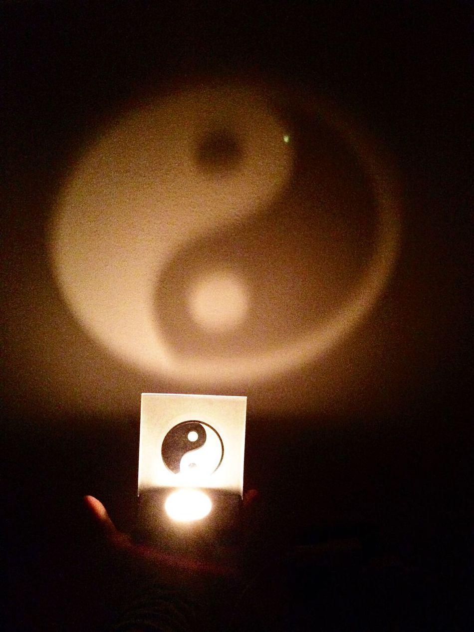 Yin & Yang Candle Light And Shadow Hand Harmony Peace Have A Nice Evening ♡ Evening Stay