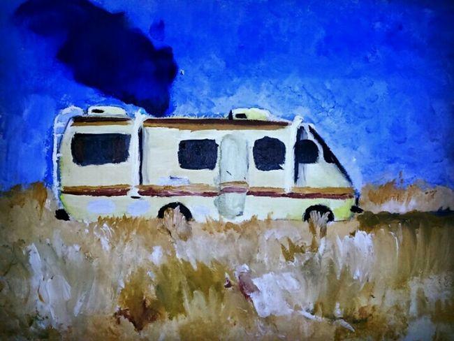 Mypainting My Artwork ArtWork Oil Painting Methlab Breakingbad Yobitch