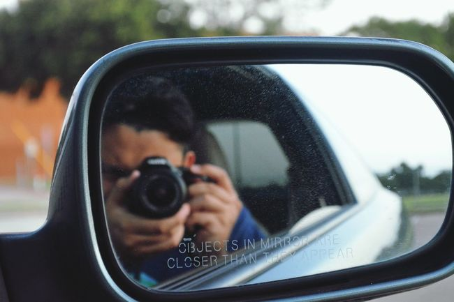 I sometimes take pictures of my friend's car. Nikon D5200 Selfportrait Acura Rsx