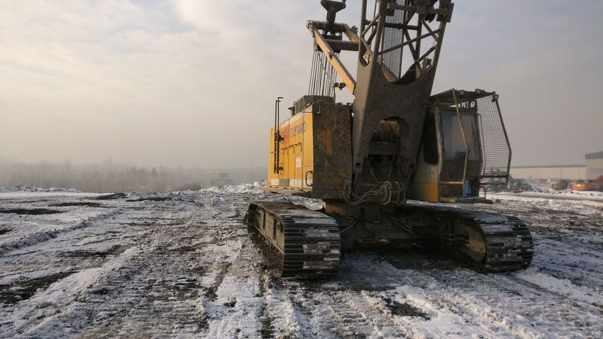 Cold Temperature Construction Machinery Construction Site Day Industry Machinery No People Outdoors Sky Snow Winter