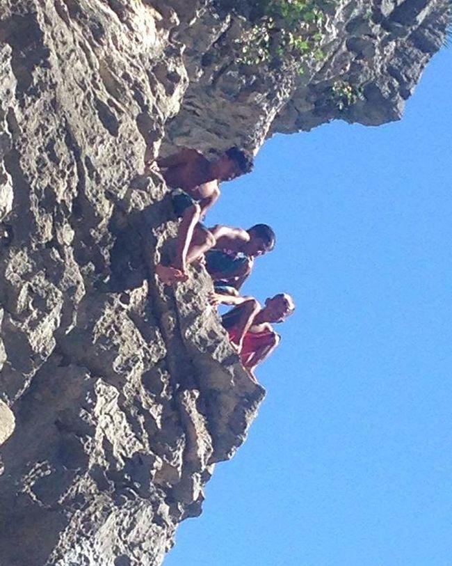Daredevil CliffJumping Rockformation Rocks Travel Photography Travel_ph Local Localpeople Localscene Adrenaline