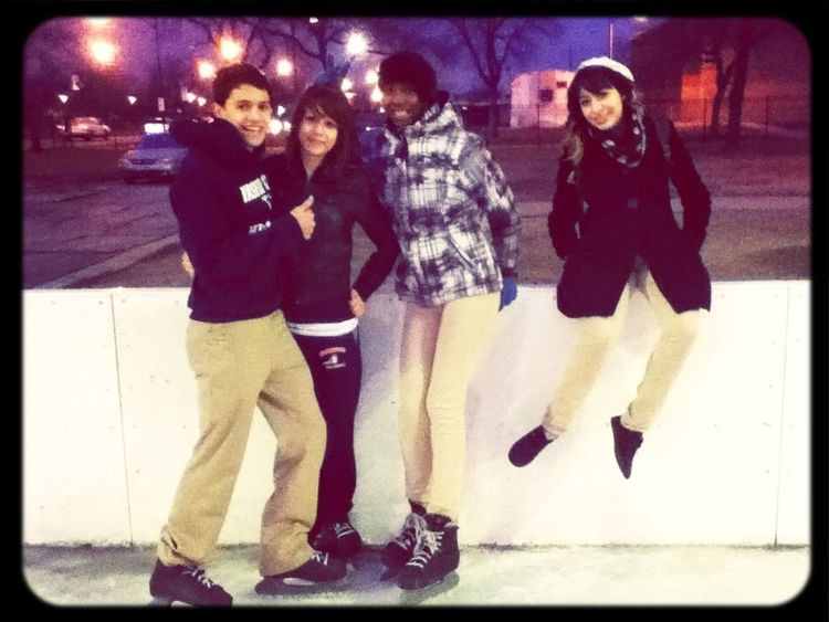 Iceskating at GWHS :) the little crew