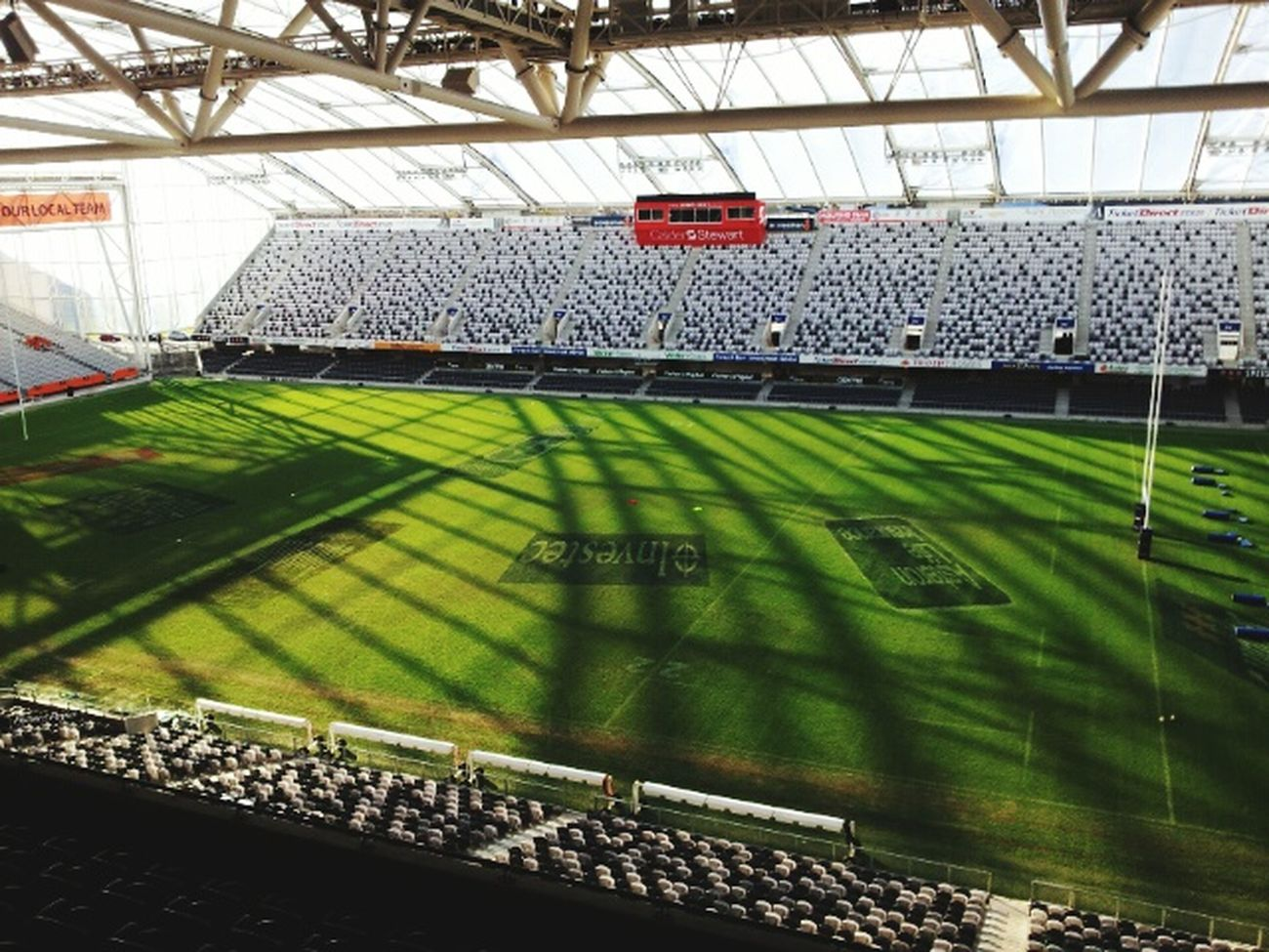 Dunedin New Zealand Forsyth Barr Stadium Rugby Highlanders Team Indoor Rugby Stadium Beautiful View
