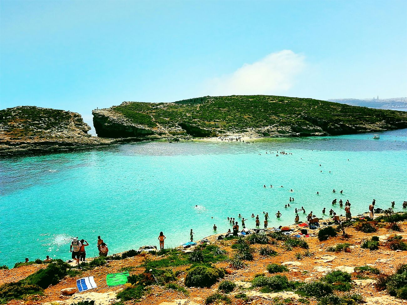Fancy a swim? Visiting Malta The Blue Lagoon, Comino Mediterranean  Swimming Time