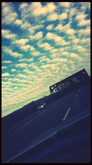 Love this picture Clouds And Sky Bridge Car Driving