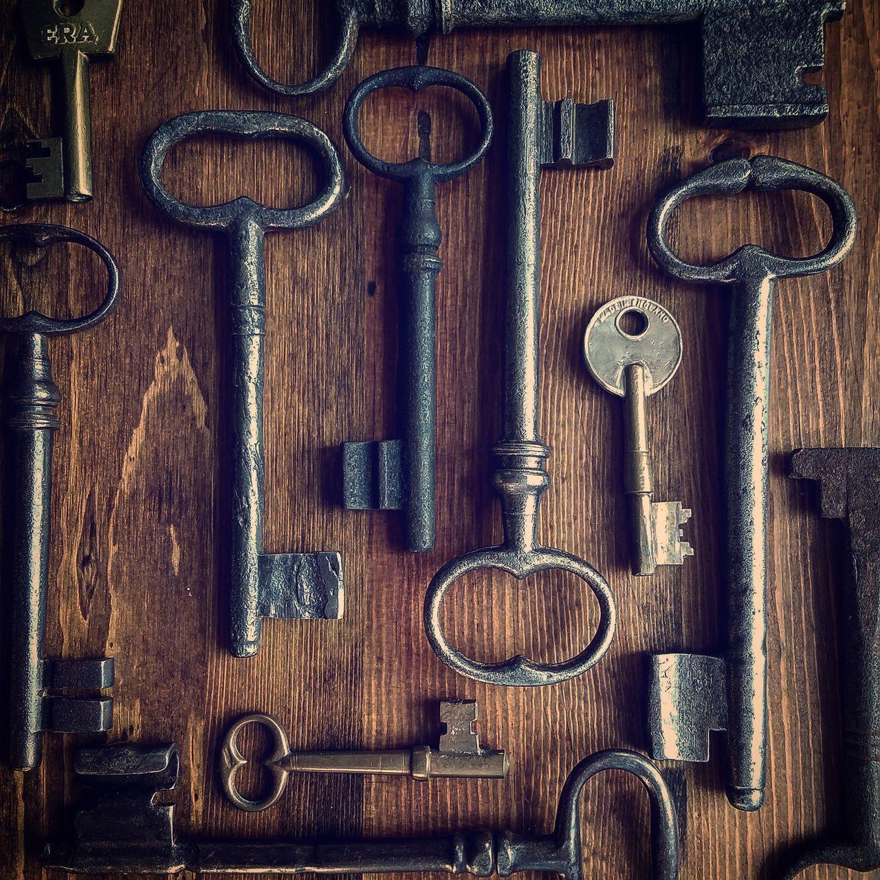 Skeleton Key  Variation Large Group Of Objects Indoors  No People Close-up Day Antiquecollection Antique Key Antique Keys Old Keys French Antique Keys Photography Keys Eyem Diversity