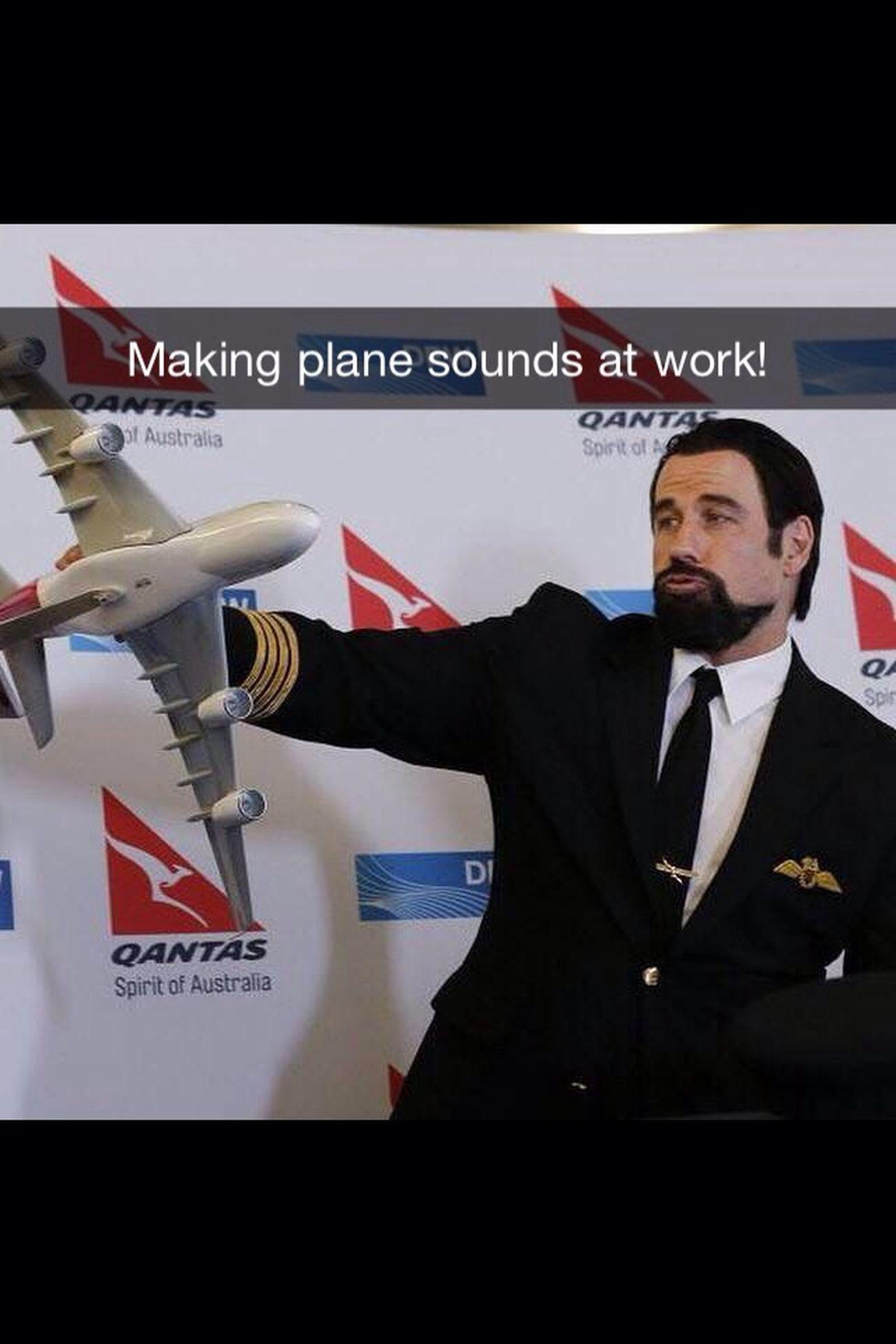 Plane✈️ Quantas Ohana ❤ JohnTravolta Aviation Pilot Being Goofy Love ♥