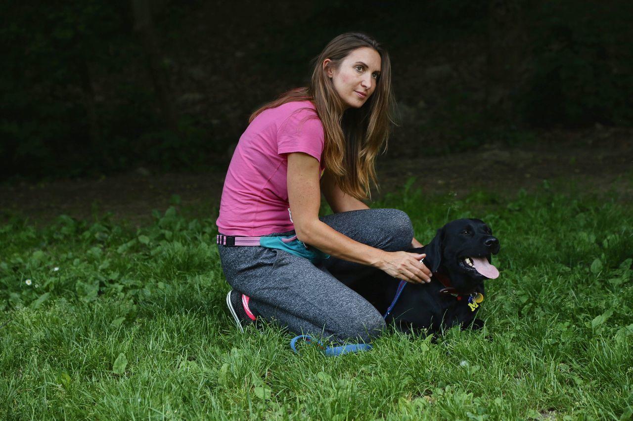 Dog Pets Grass Leisure Activity Outdoors Animal Themes Young Women Nature Training Dog Training Bratislava Slovakia
