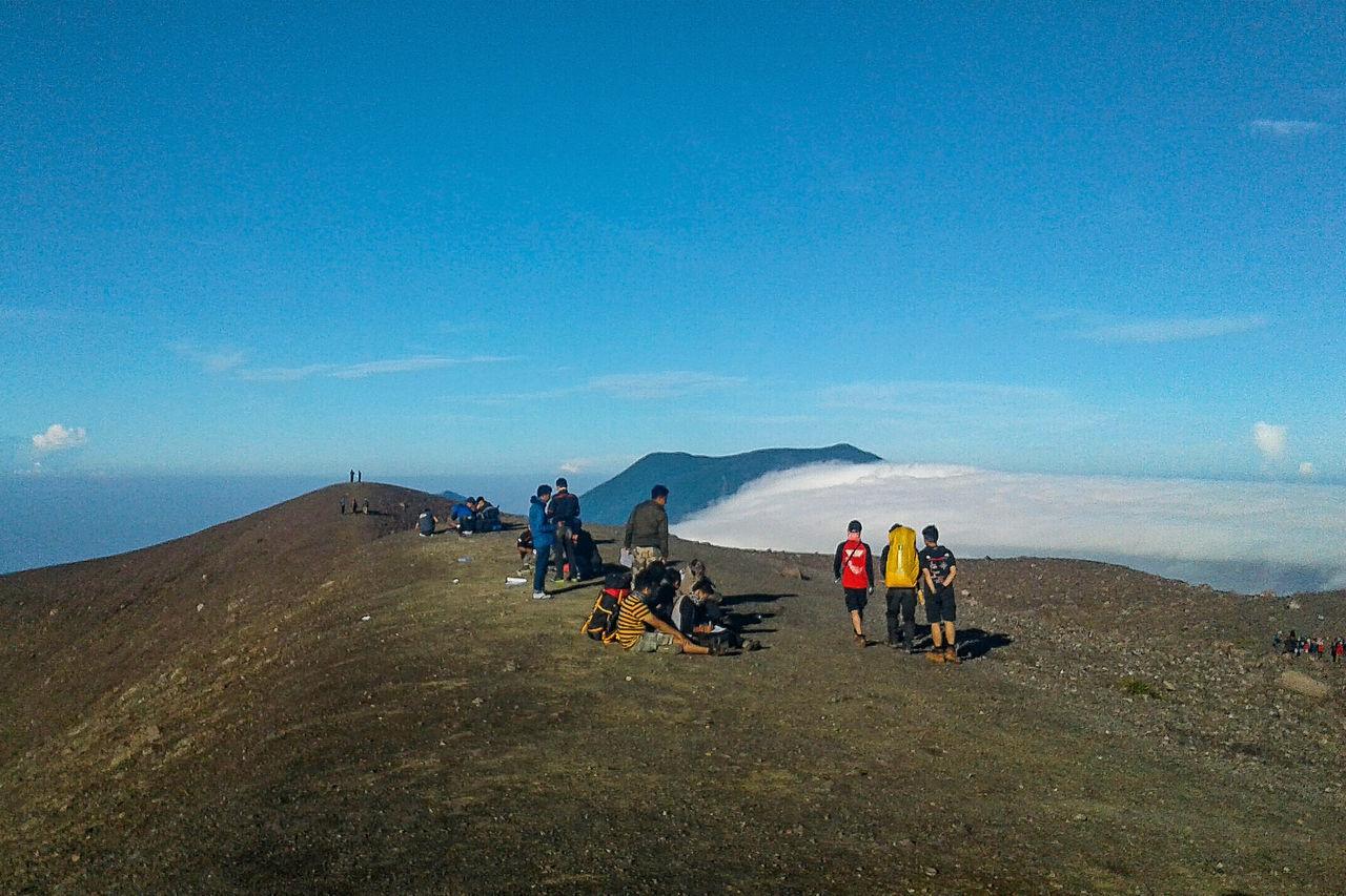 Climbers at the top of Mt. Marapi... Sky Mountain Nature Landscape Photography Wonderfulindonesia