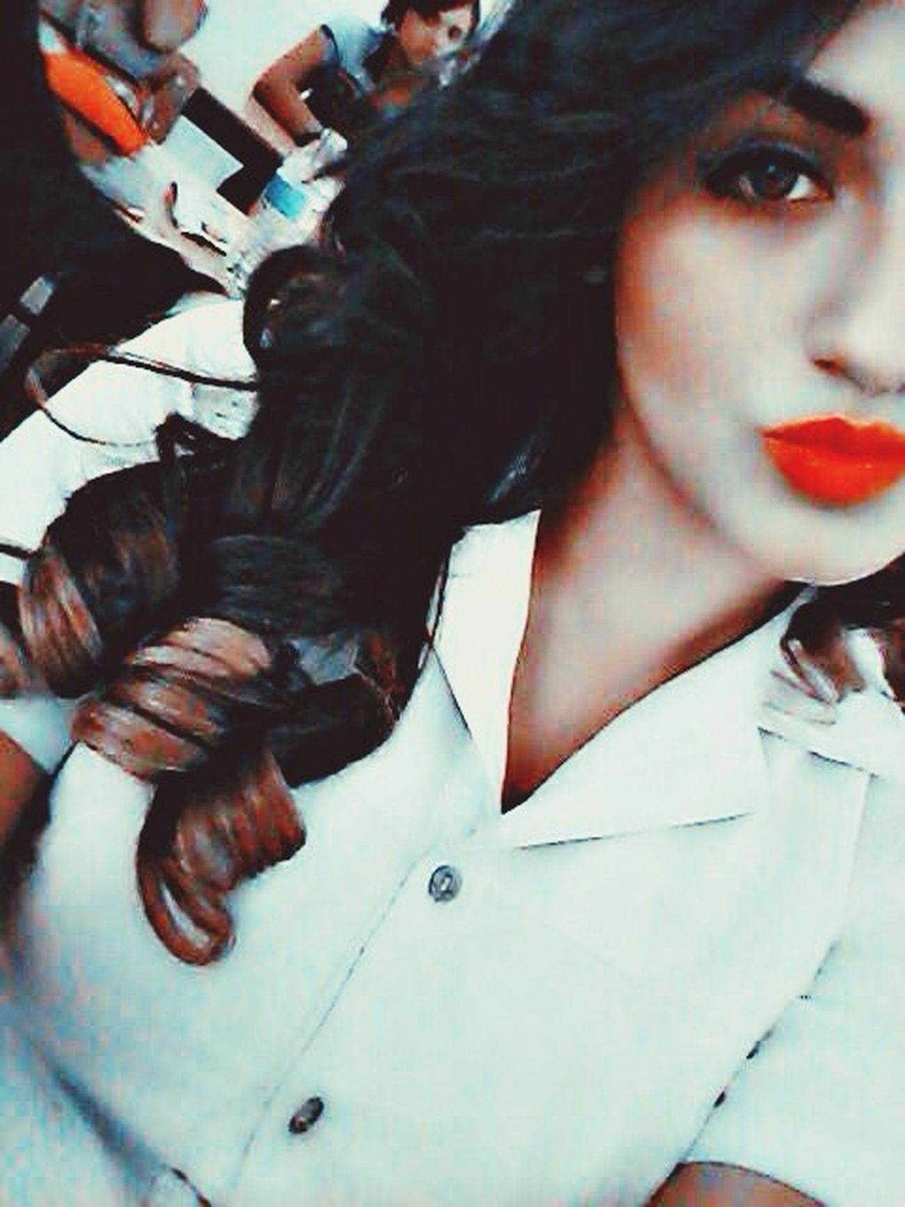 That's Me Red Lips Greeneyes :) Selfie