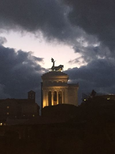 Dalla finestra... Clouds And Sky Window View Mee Monticianasempre Architecture Sky Cloud - Sky Built Structure Building Exterior Statue Silhouette