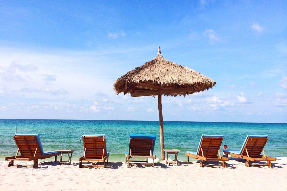 Beautiful stock photos of jamaica, Beach, Beach Umbrella, Beauty In Nature, Cambodia
