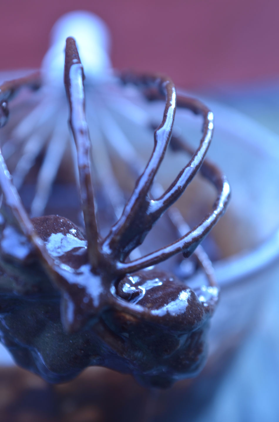 wire whisk dripping with chocolate brownie mix Baking Brownie Mix  Chocolate Close Up Close-up Cooking Cooking At Home Day Kitchen Utensils Mix No People Preparation  Whisk