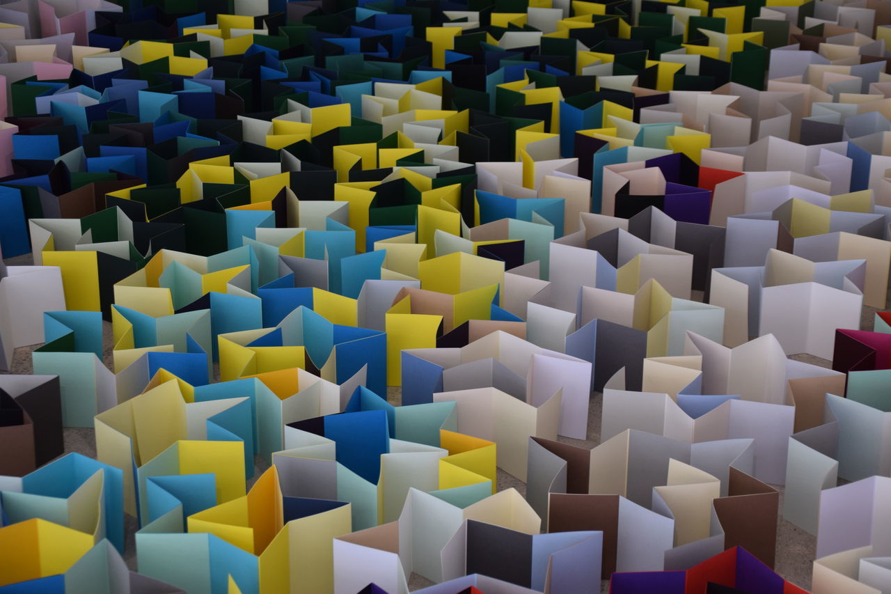 Paper City - a Hull 2017 installation - Hull City of Culture 2017 Abundance Art And Craft Close-up Day Full Frame Hull Hull 2017 Hull City Of Culture 2017 Indoors  Large Group Of Objects Multi Colored No People Paper Pattern Puzzle
