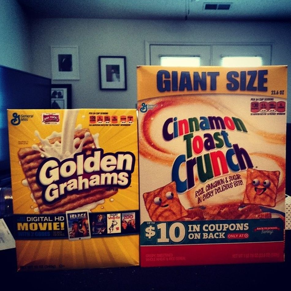 What you know about giant size boxes of the cinnamon goodness Cinnamontoastcrunch the Goldengrahams are for scale CTC Cereal Giant Target