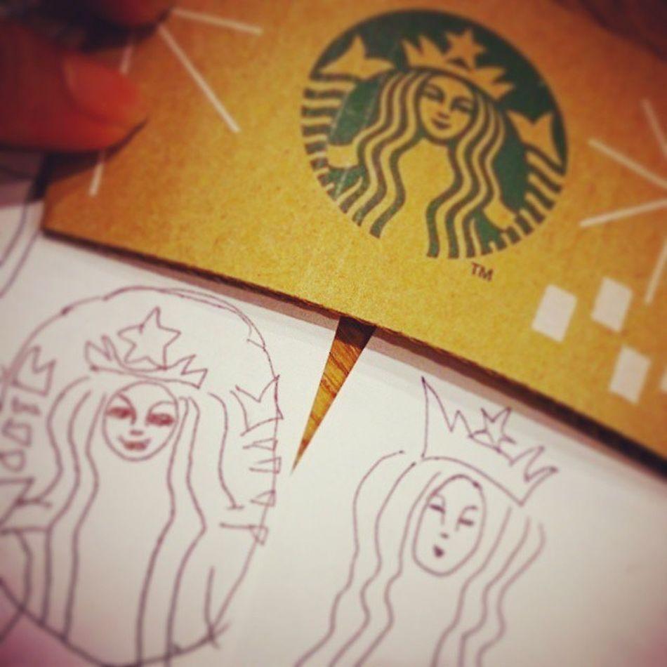 二人の画伯 色んな個性あっていいじゃないか★爆笑 Starbucks スタバ 落書き 絵心 Part2 画伯 これはこれでart