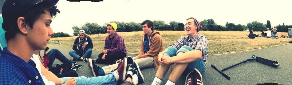 chillin down baiter with my best friends :} Bestfriends <3 ScooterGang Skatepark Chilling